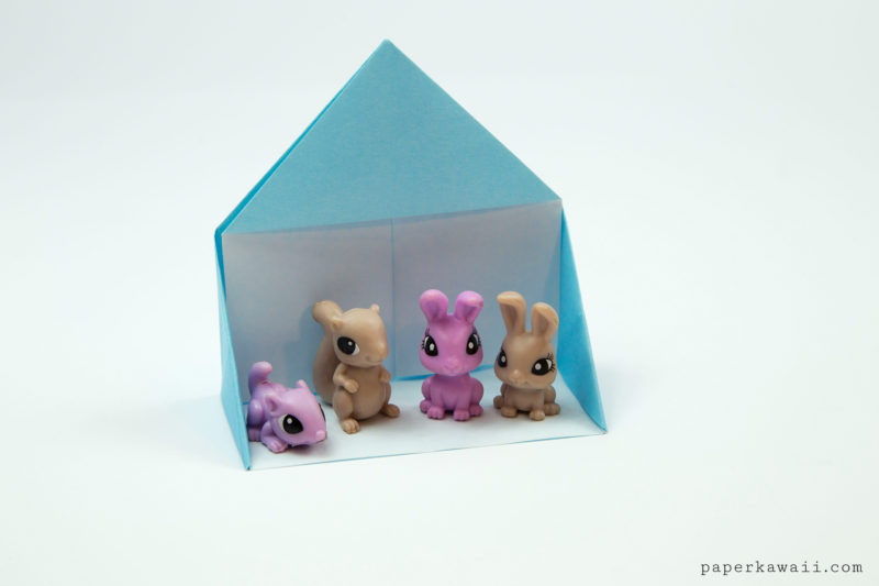 Easy Origami Dollhouse Tutorial - DIY Paper House!