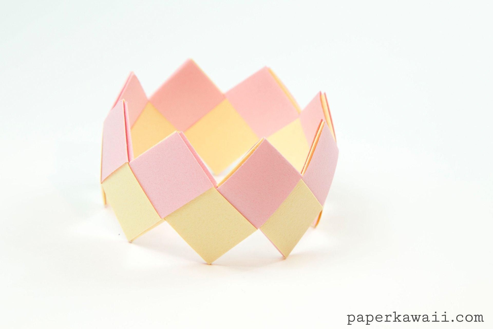 modular origami bracelet tutorial easy amp pretty paper