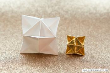 Origami Cube Star Decoration Tutorial via @paper_kawaii