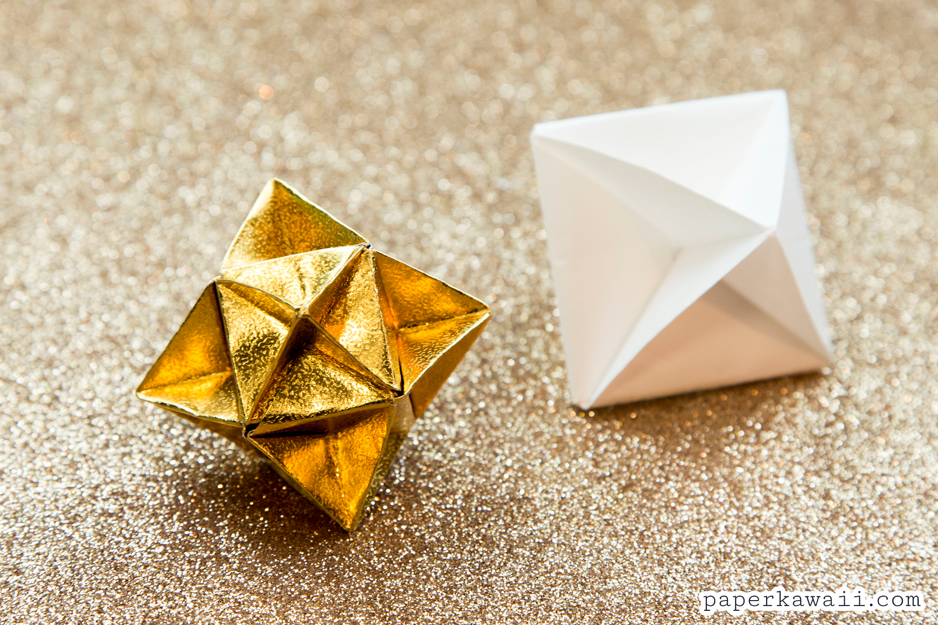 Origami cube star decoration tutorial paper kawaii if you made an origami cube star why not try the origami christmas tree next it is made using the same method jeuxipadfo Image collections