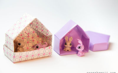 Origami House Box Tutorial – Cute Gift Box