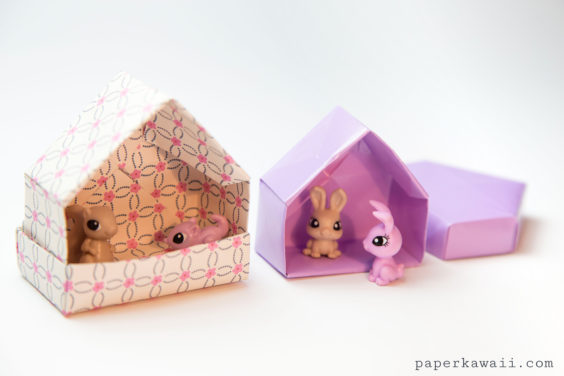 Origami House Box Tutorial – Cute Gift Box