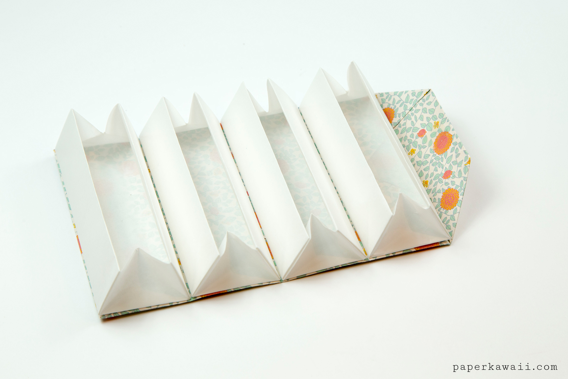 Origami Accordion Box Tutorial  DIY Roll Up Box  Paper