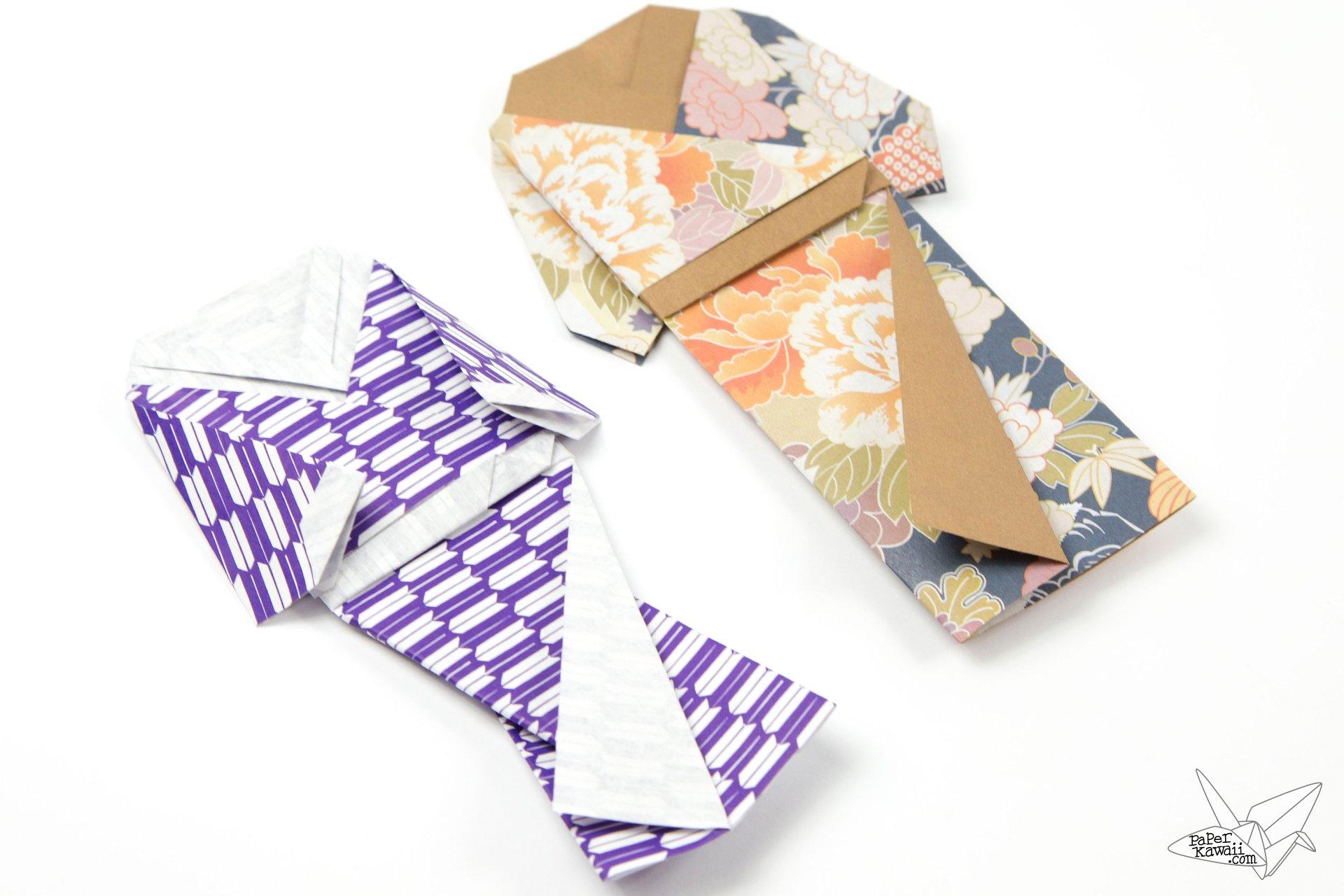 Origami Japanese Doll in Kimono Dress Tutorial - Paper Kawaii - photo#28