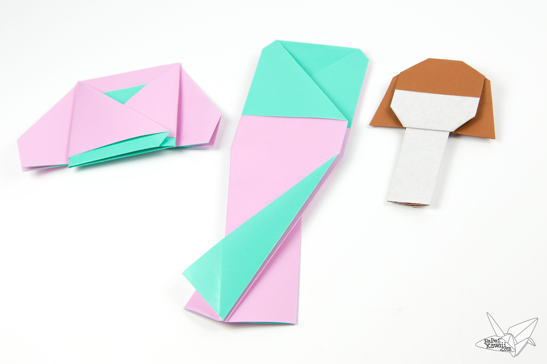 Origami Doll Tutorial - Paper Kawaii