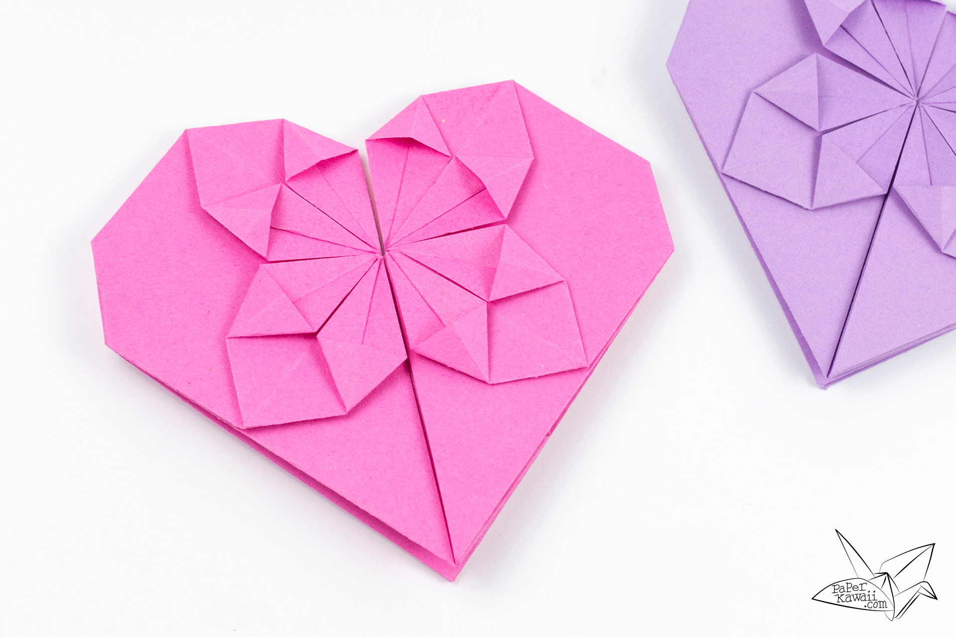 Money origami heart tutorial for valentine 39 s day paper kawaii - Origami paper tutorial ...