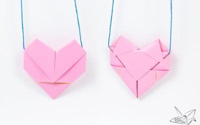 Origami Heart Necklace Tutorial – Heart Letterfold