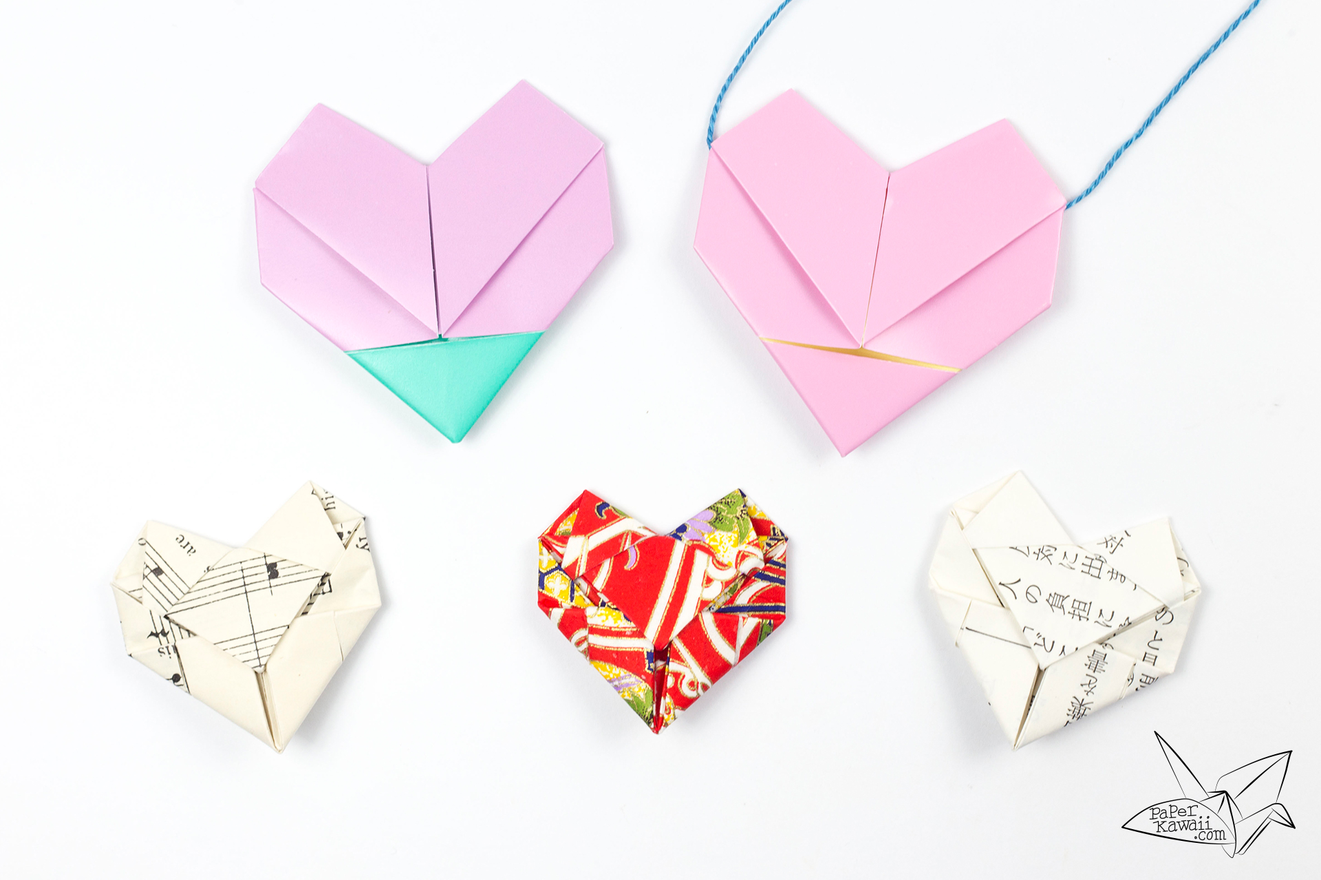 Origami Heart Necklace Tutorial - Heart Letterfold - Paper ... - photo#32