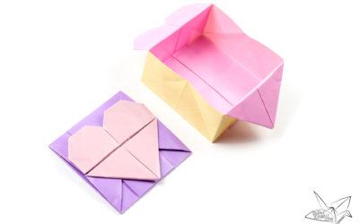 Origami Opening Heart Box / Envelope Tutorial