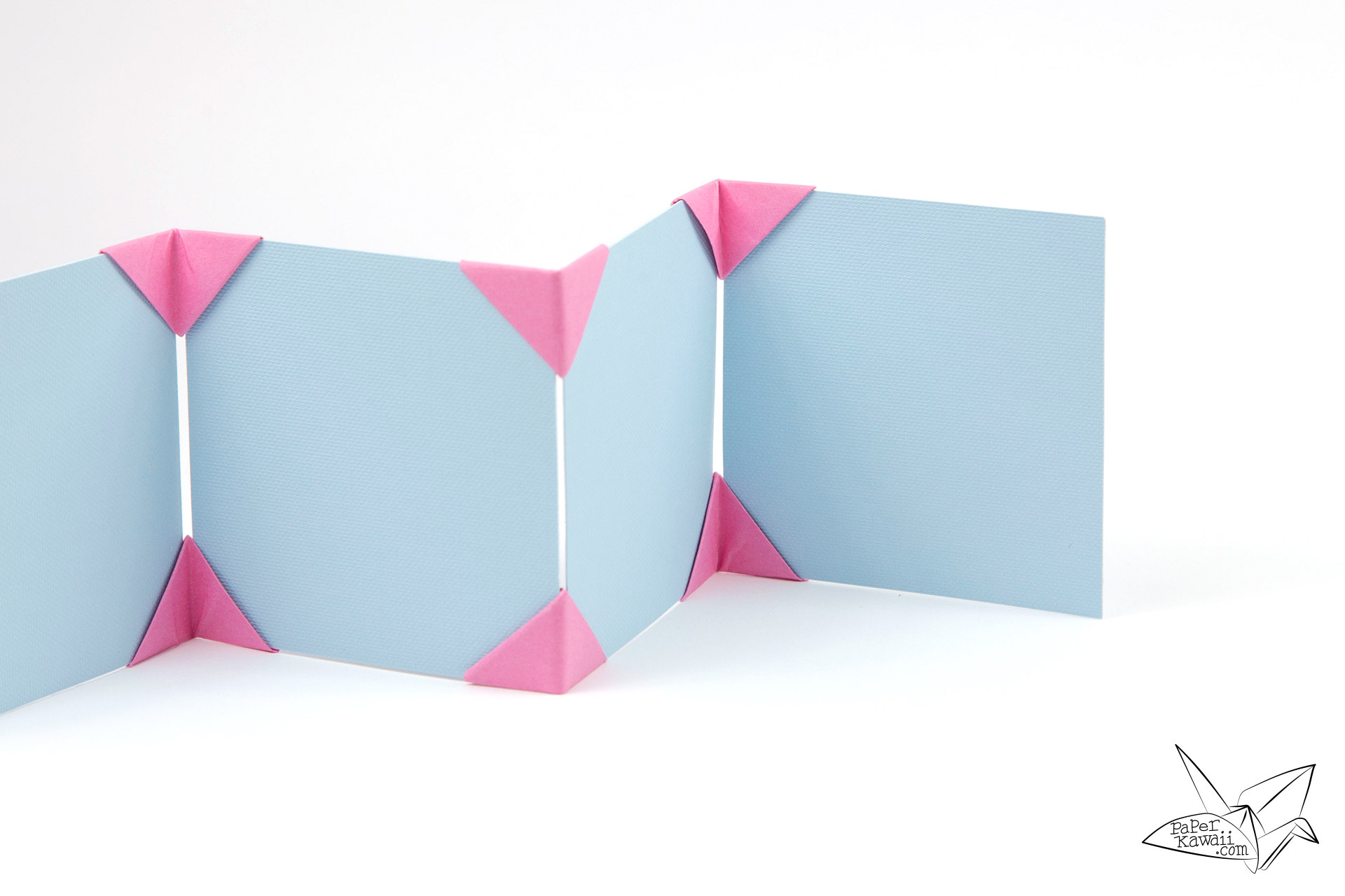 origami photo frame tutorial make a photo display