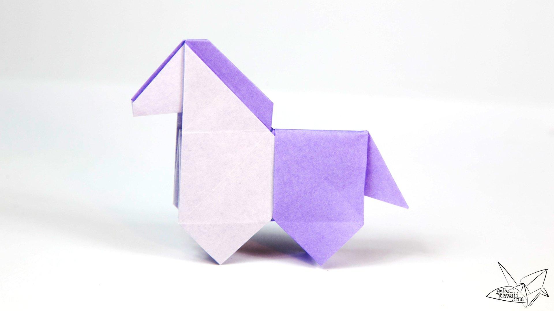 Origami horse tutorial cute origami pony paper kawaii - Origami paper tutorial ...