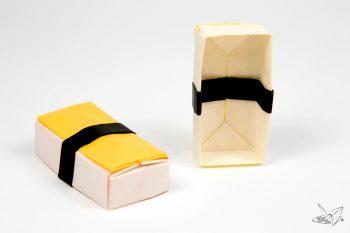 Origami Sushi Boxes Tutorial via @paper_kawaii