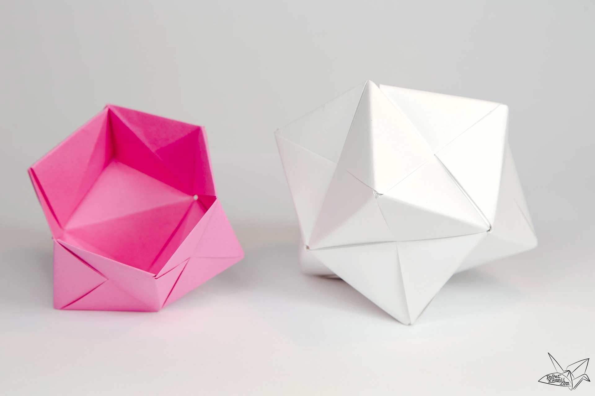 Modular origami sonobe bowl tutorial paper kawaii - Origami paper tutorial ...