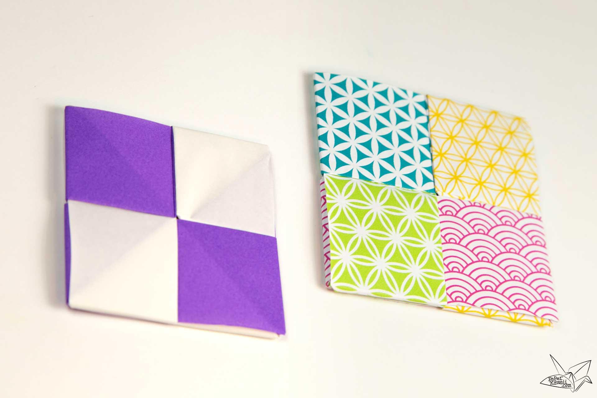 Modular Origami Coaster Tutorial - Sonobe Units via @paper_kawaii