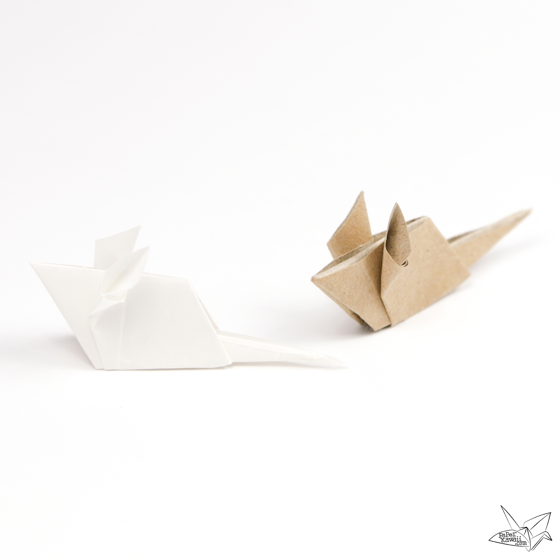 origami mouse tutorial paper kawaii