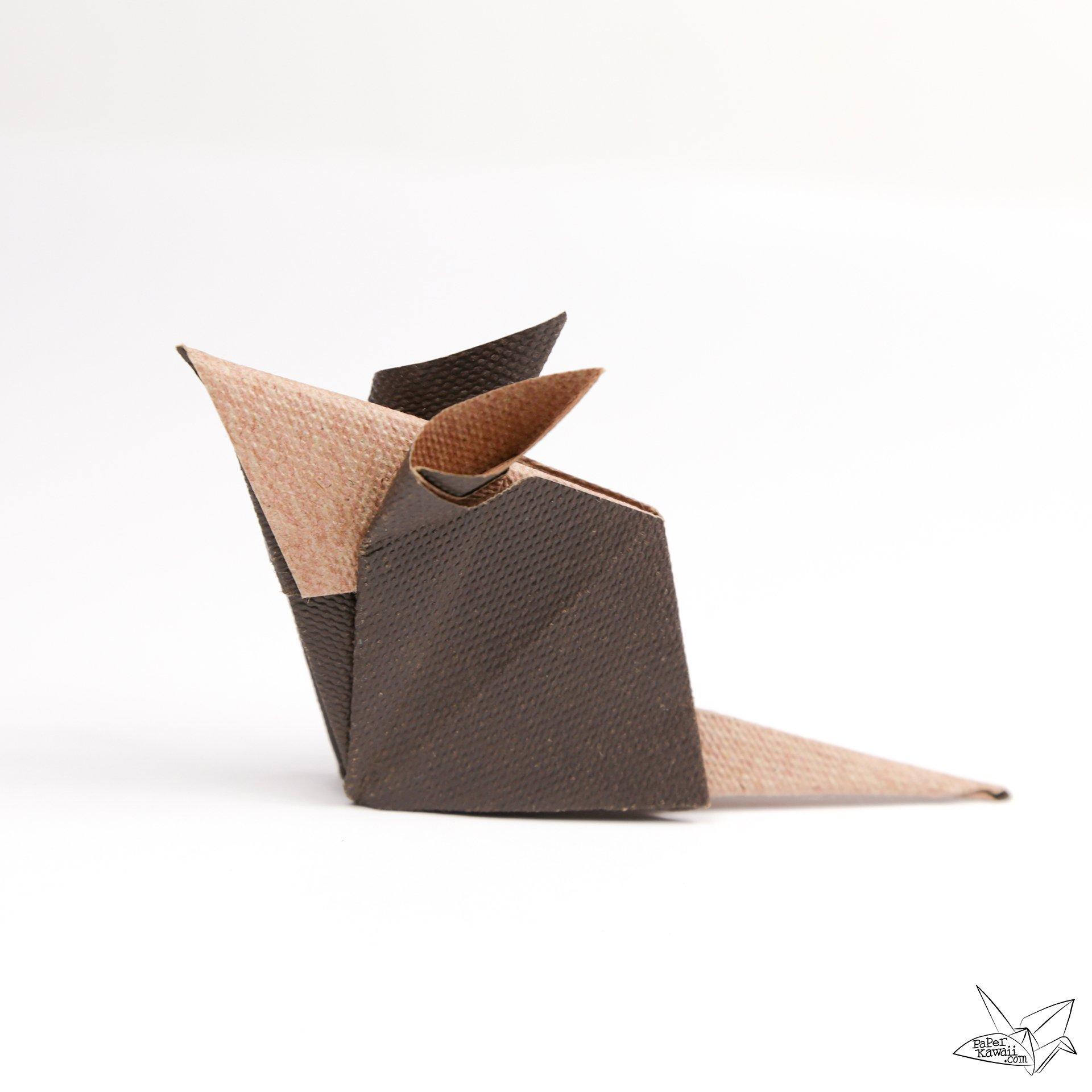 origami mouse tutorial paper kawaii