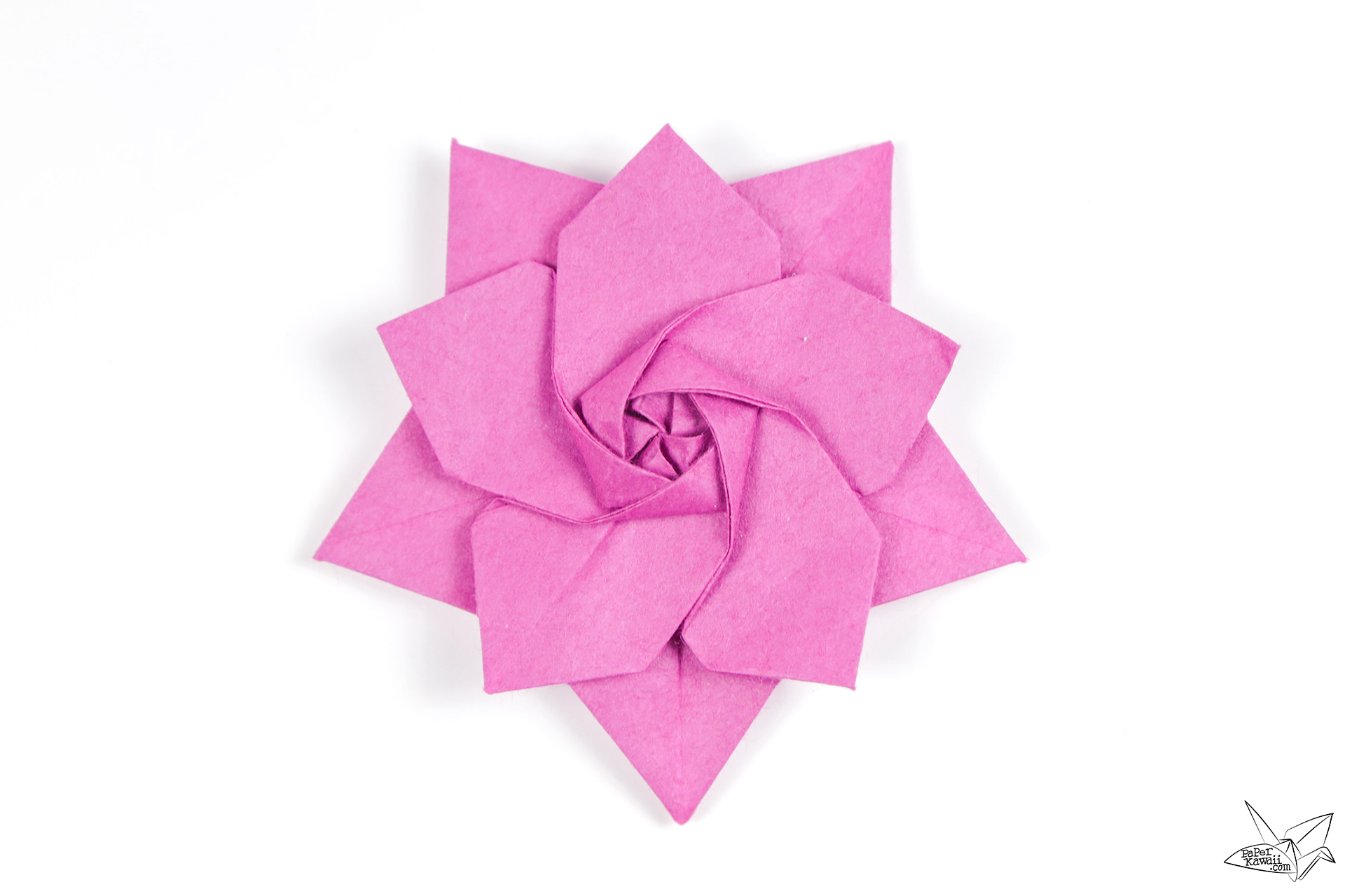 Origami Sakura Star Tutorial - Designed by Ali Bahmani ... - photo#48
