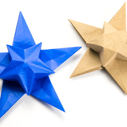 Origami White Star Tato Tutorial - Philip Chapman-Bell via @paper_kawaii