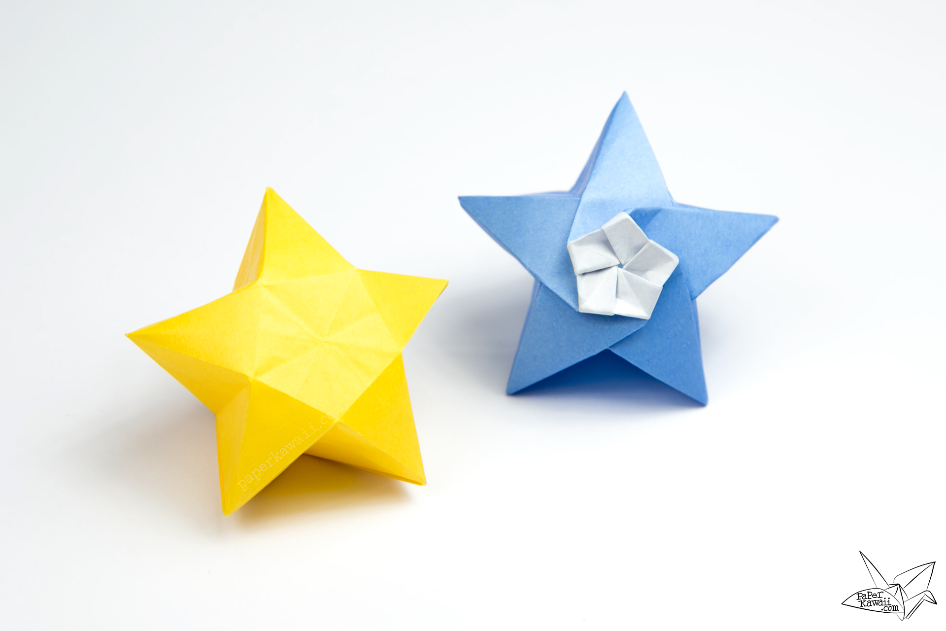 Origami Twinkle Star Tutorial - Puffy Stars - Paper Kawaii - photo#8