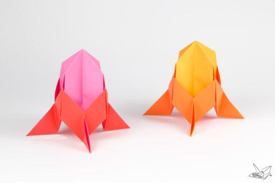 Easy Origami Rocket Spaceship Tutorial
