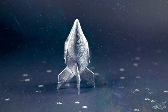 Origami Spaceship Tutorial – Origami Rocket