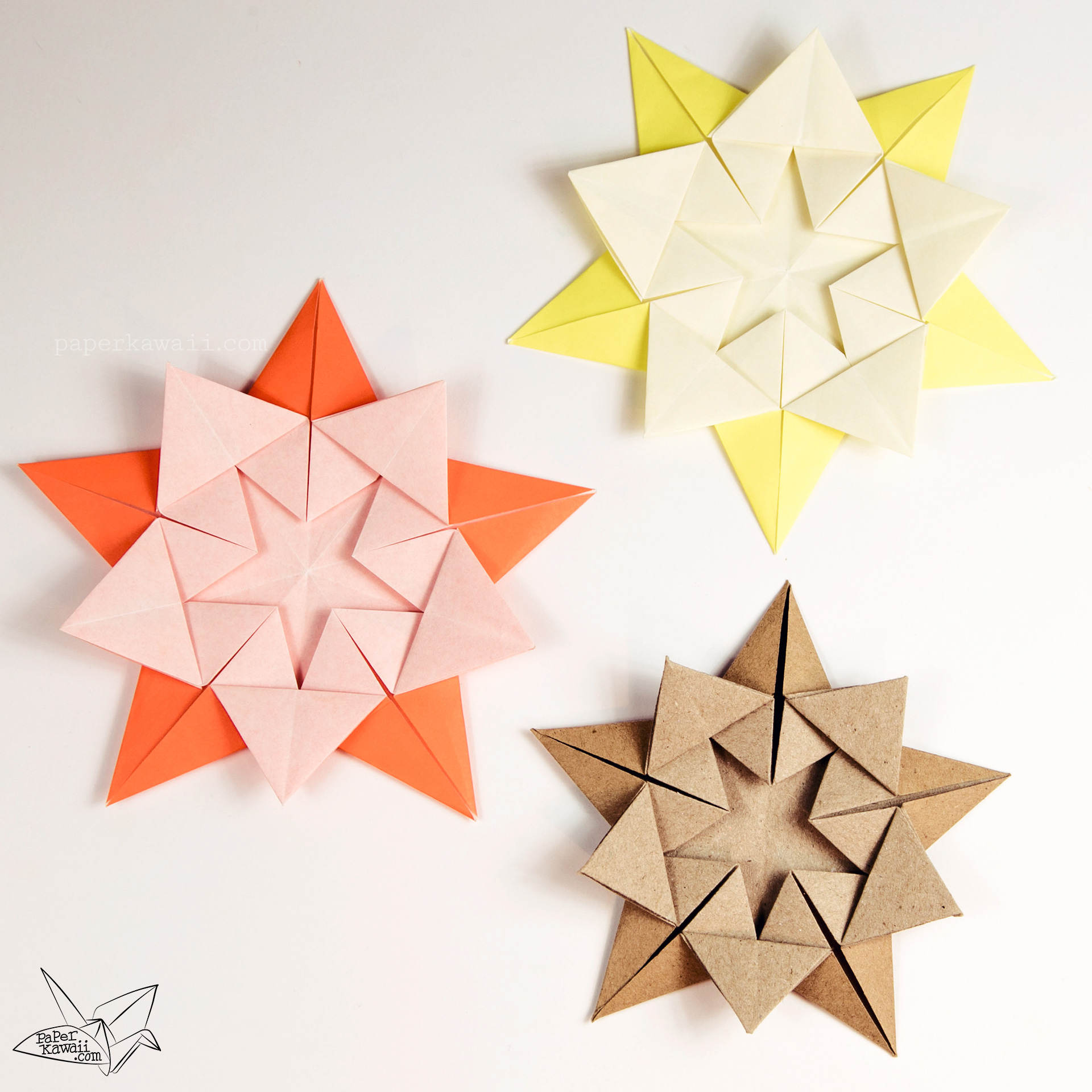 Origami 'Star Within' Tutorial - Ali Bahmani via @paper_kawaii