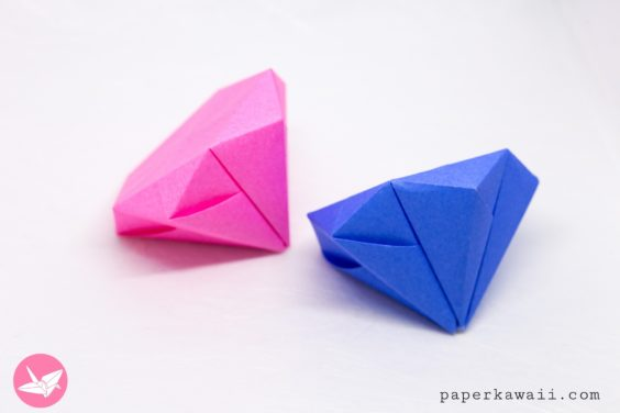 Round Origami Diamond Tutorial