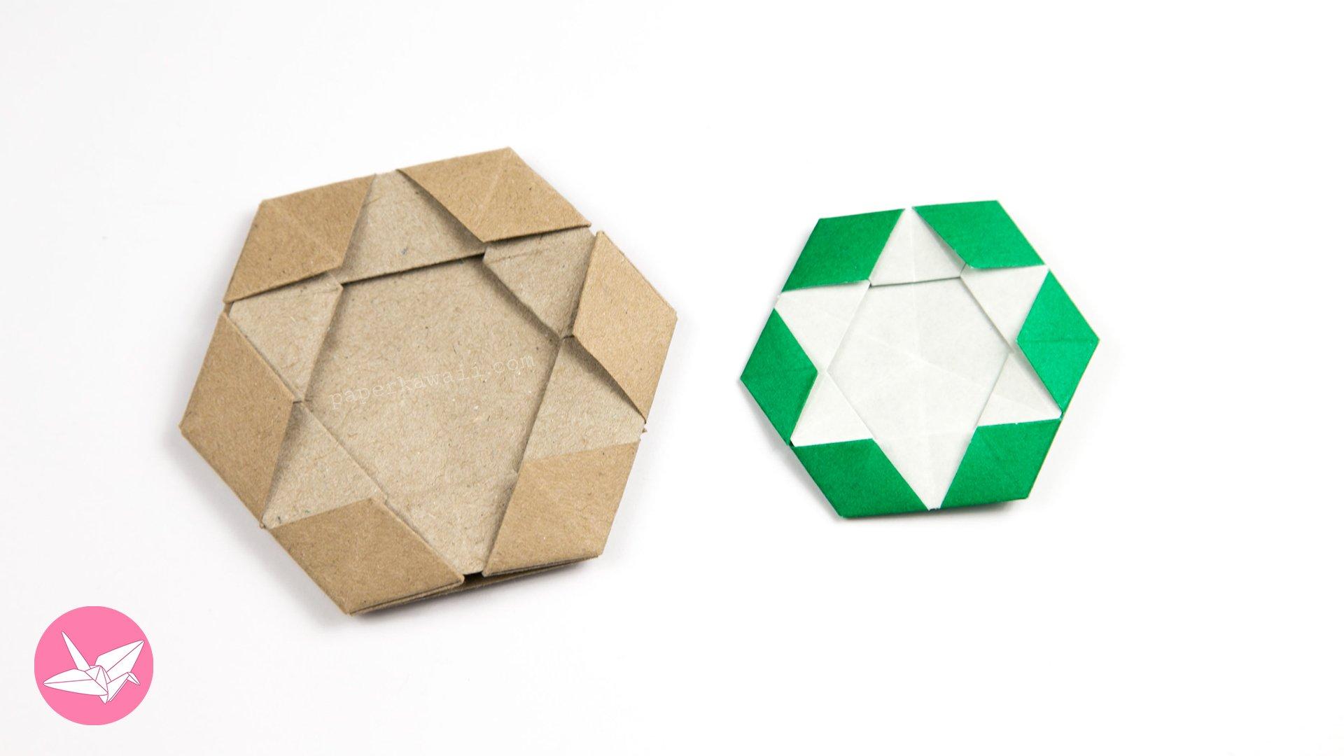 Origami Star of David Hexagram Coaster / Tiles / Tato via @paper_kawaii