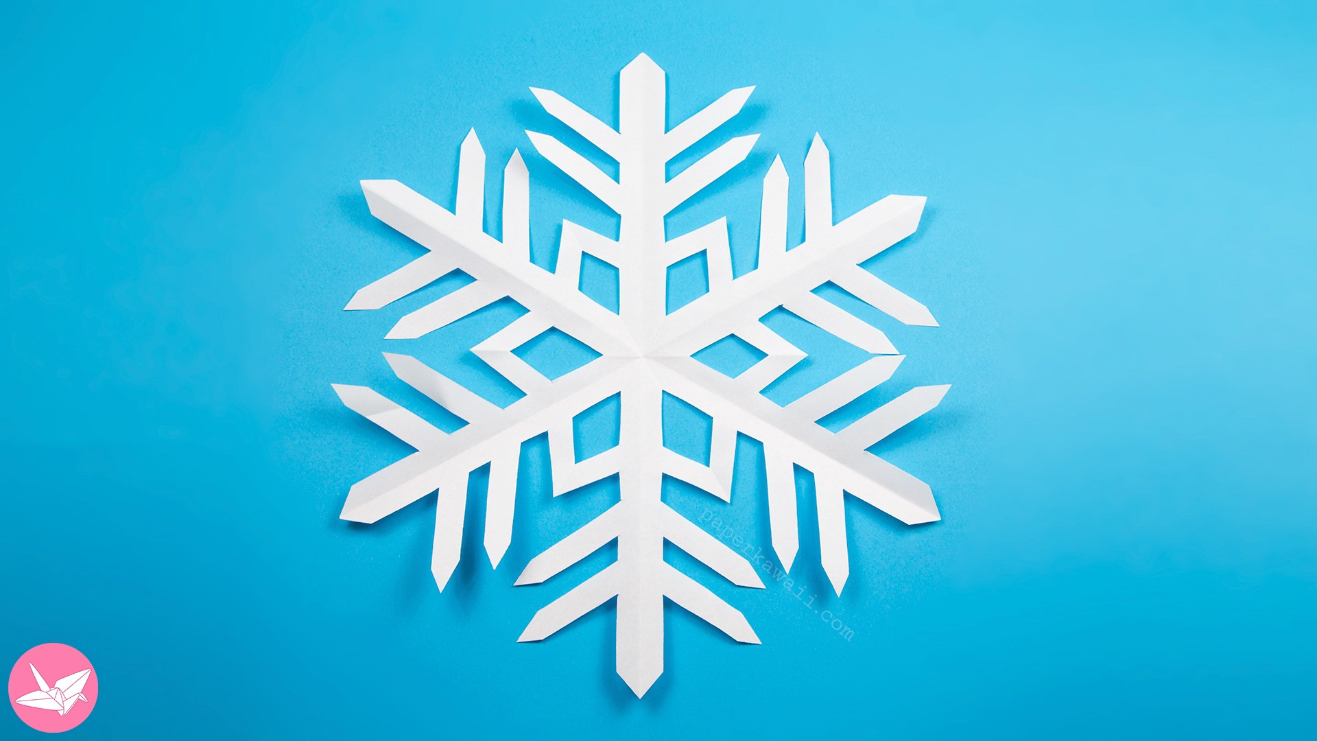 easy kirigami snowflake tutorial 6 pointed paper kawaii