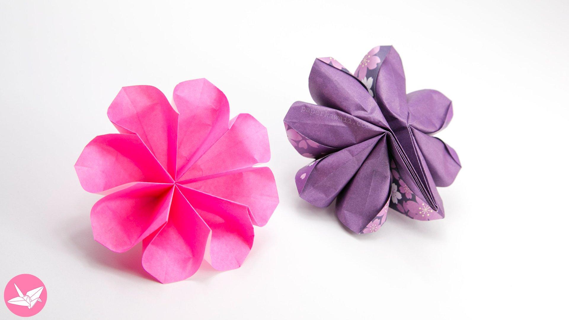 Easy 8 Petal Origami Flower Tutorial via @paper_kawaii