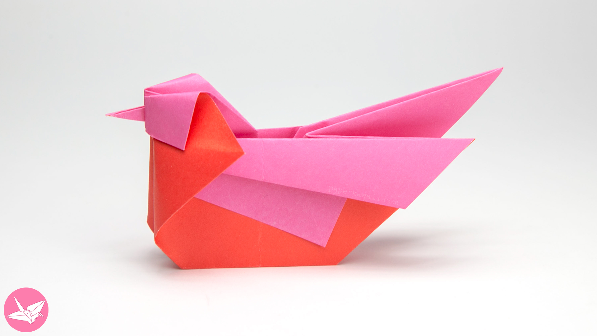 Origami Bird Tutorial - Mandarin or Seagull - Simon Andersen via @paper_kawaii