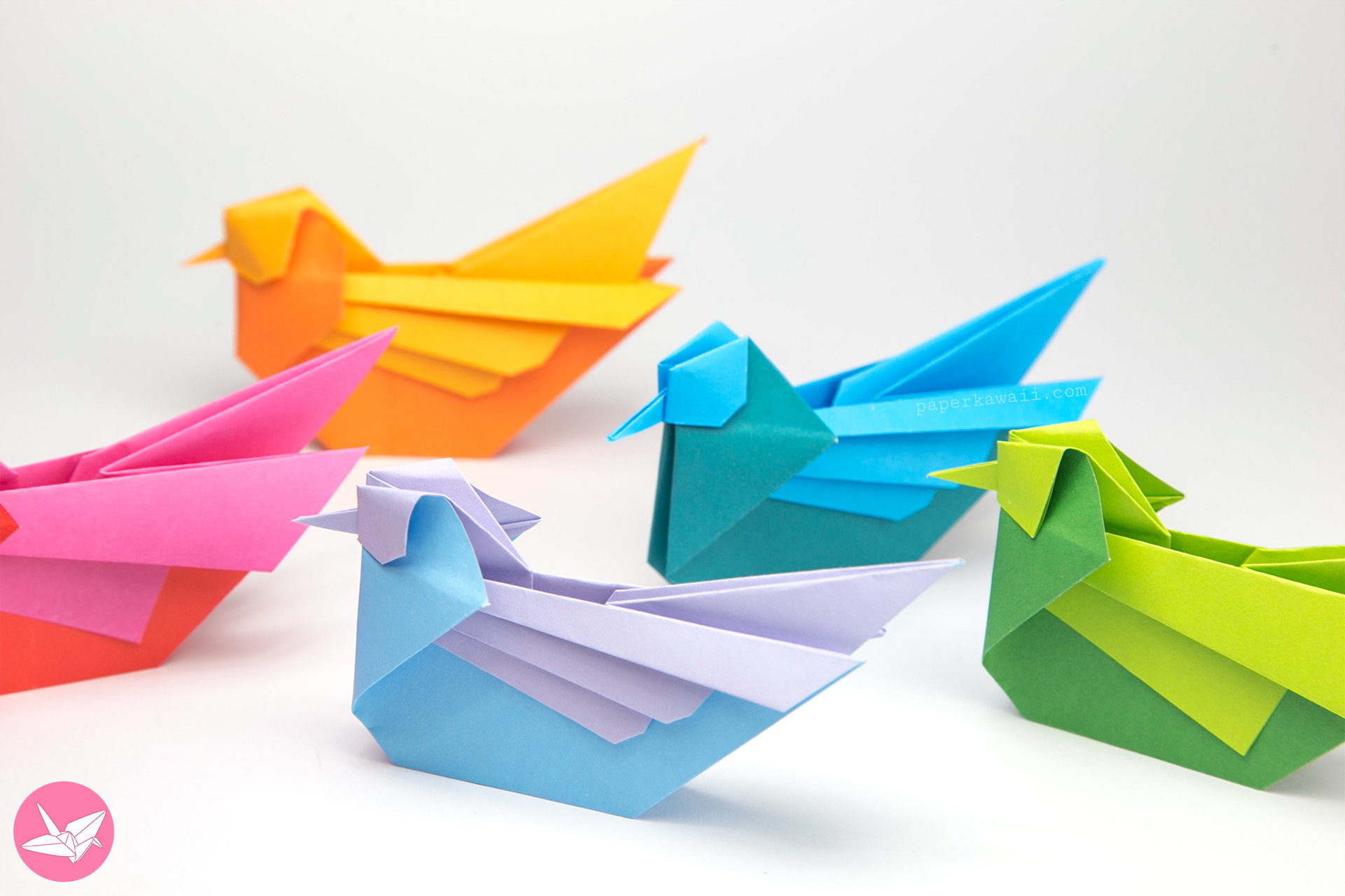origami bird tutorial mandarin or seagull simon
