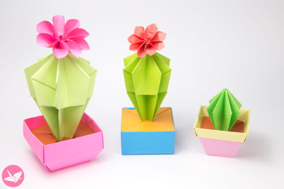 Origami Cactus & Flower Tutorial