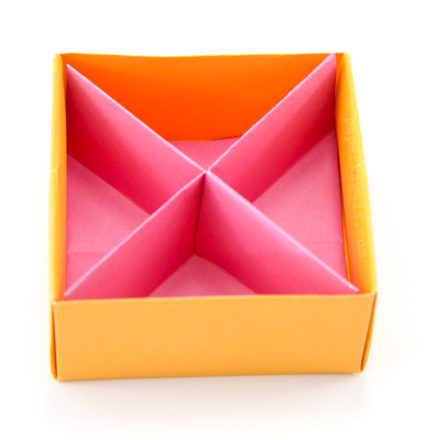 Rectangular Origami Box Divider Tutorial - 3 Kinds via @paper_kawaii