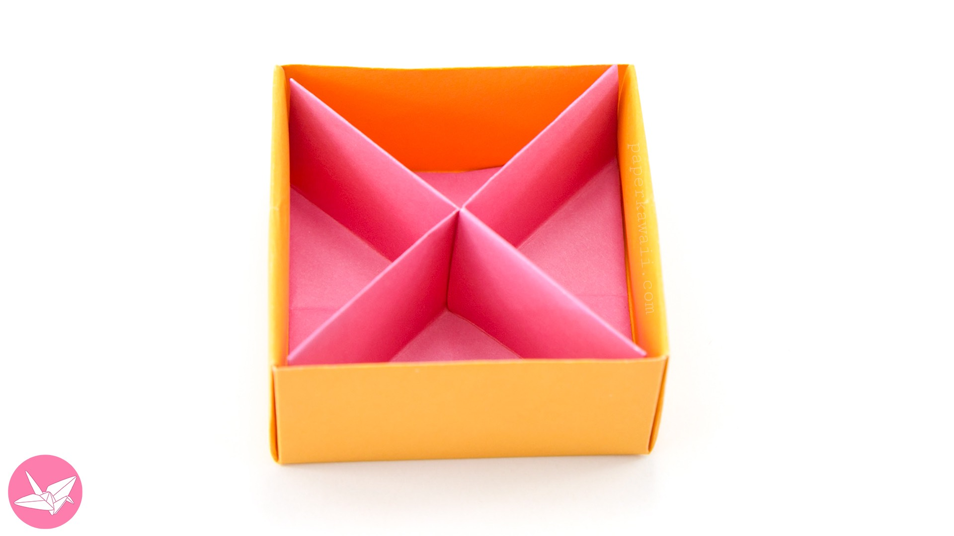 Origami Diagonal Box Divider Tutorial via @paper_kawaii