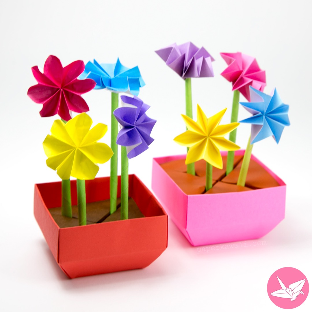 Flower Pot Making With Paper Demirediffusion