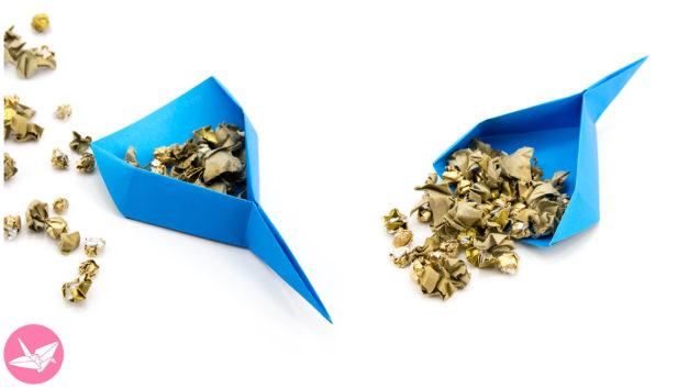 Origami Dustpan Scoop Tutorial – Spring Cleaning DIY