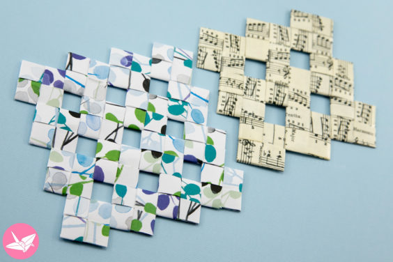 Origami Weaved Mats Tutorial – Paper Placemats