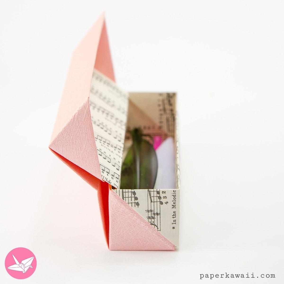 Origami Long Hinged Gift Box Tutorial - Pencil Box via @paper_kawaii