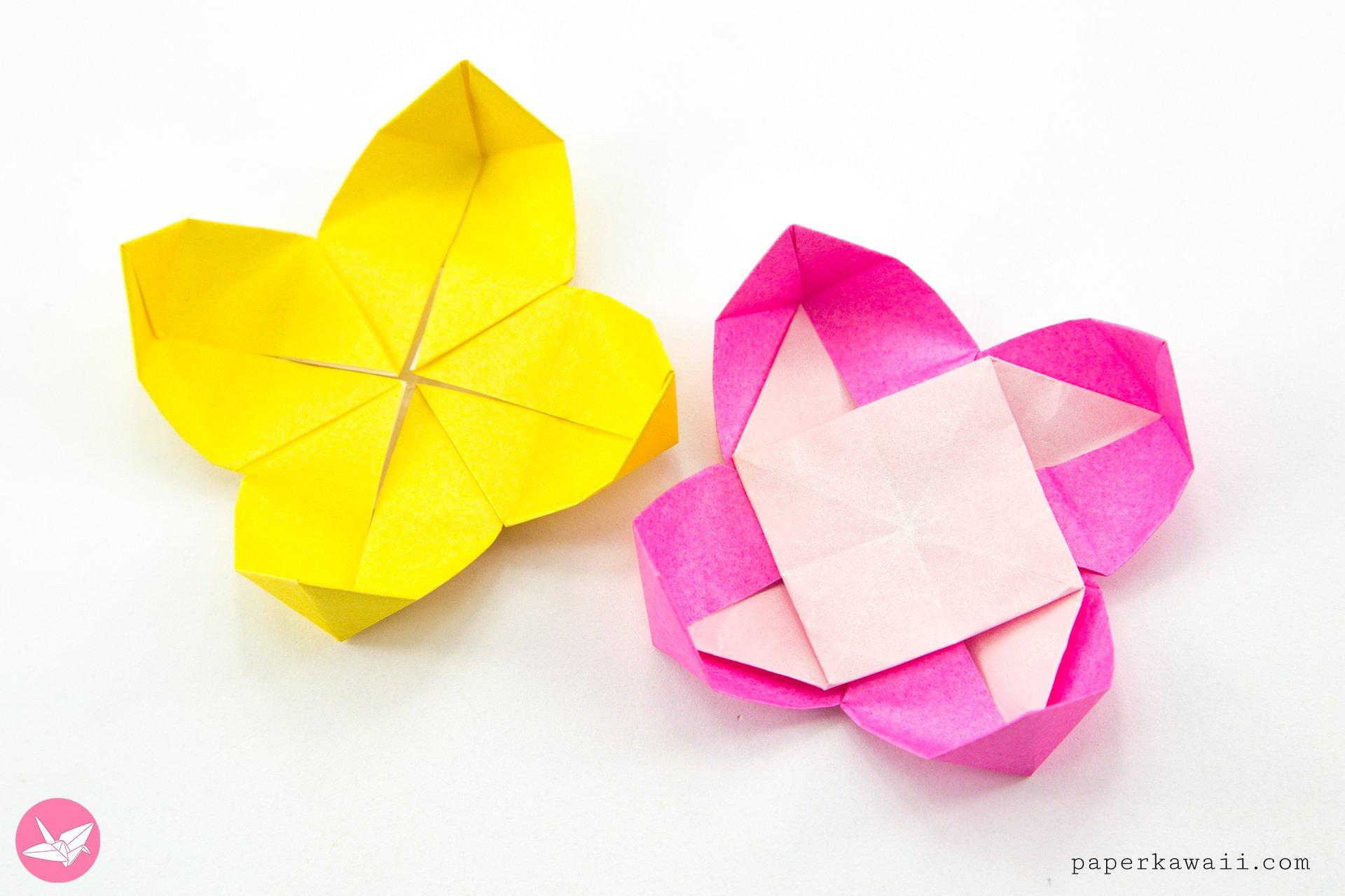 Origami Pinwheel Flowers Tutorial via @paper_kawaii