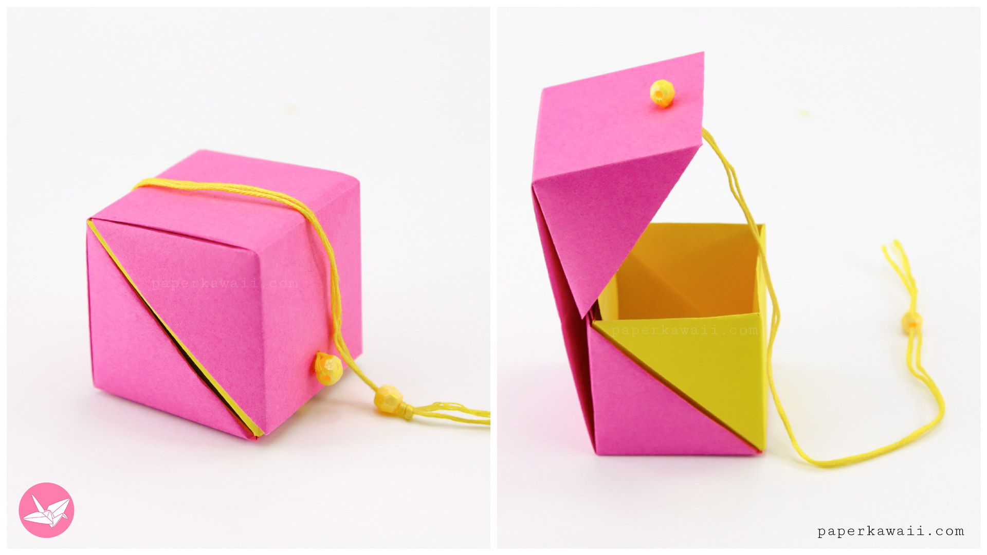How to make a five-pointed origami star box: page 1 | 1080x1920
