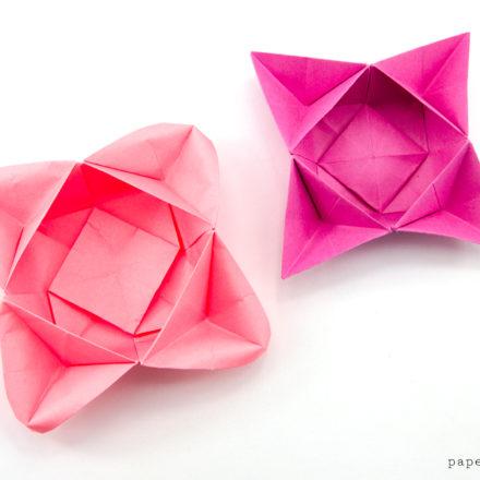 Origami star flower video tutorial via @paper_kawaii