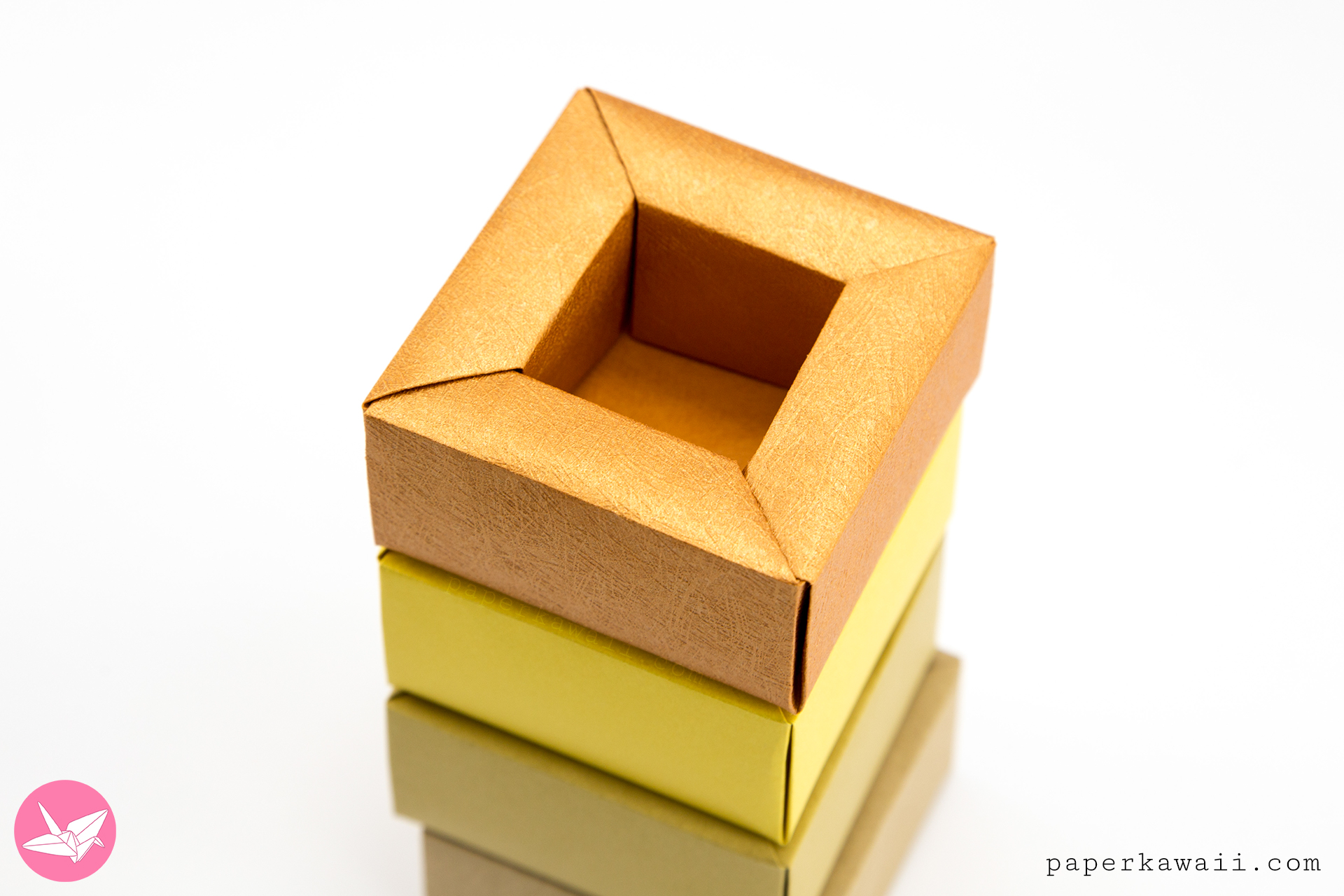 Origami Planter Pot Box Tutorial via @paper_kawaii