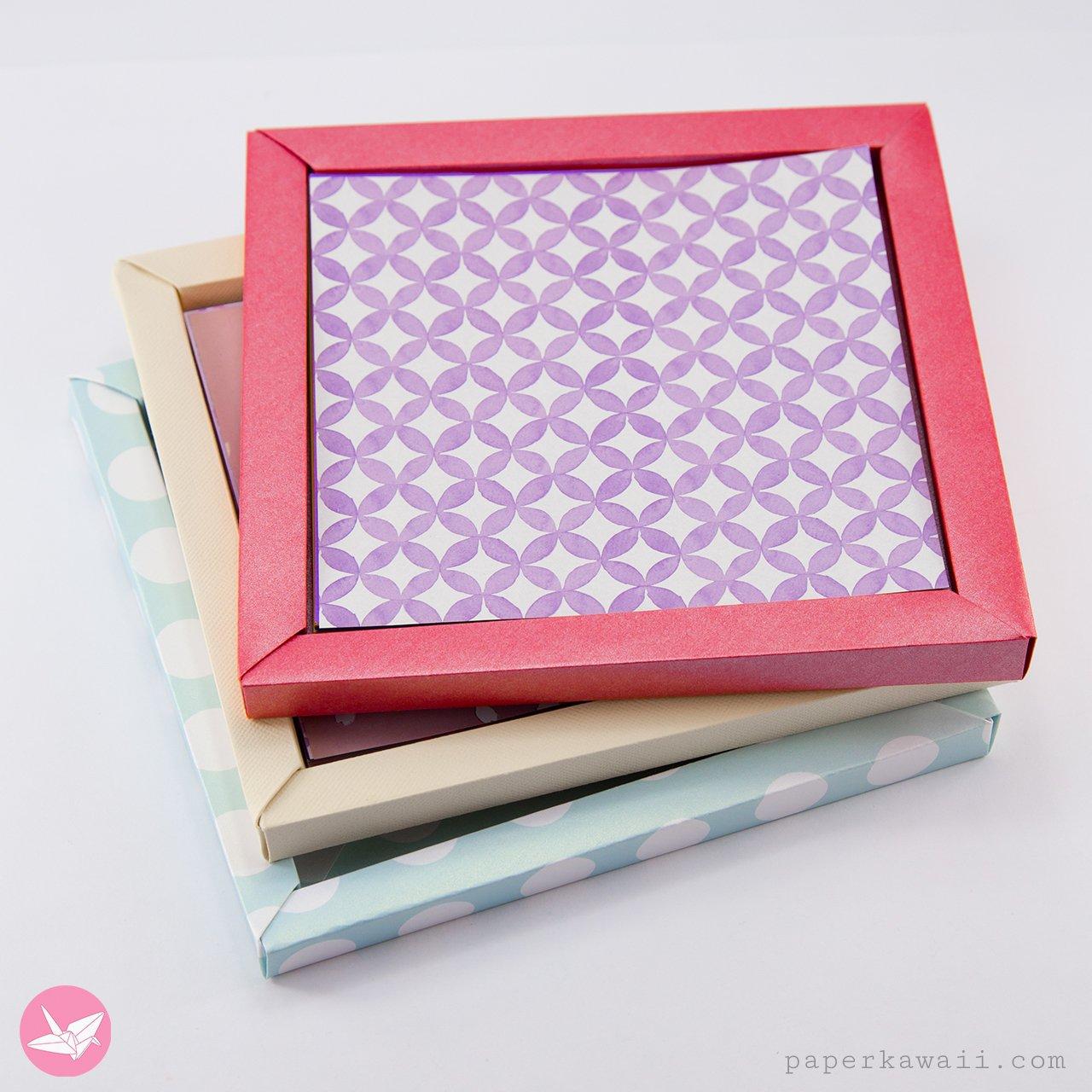 Origami Photo Frame Box Tutorial / Paper Storage Box via @paper_kawaii