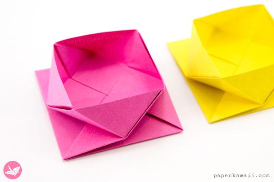 Origami Square Twist Box Tutorial