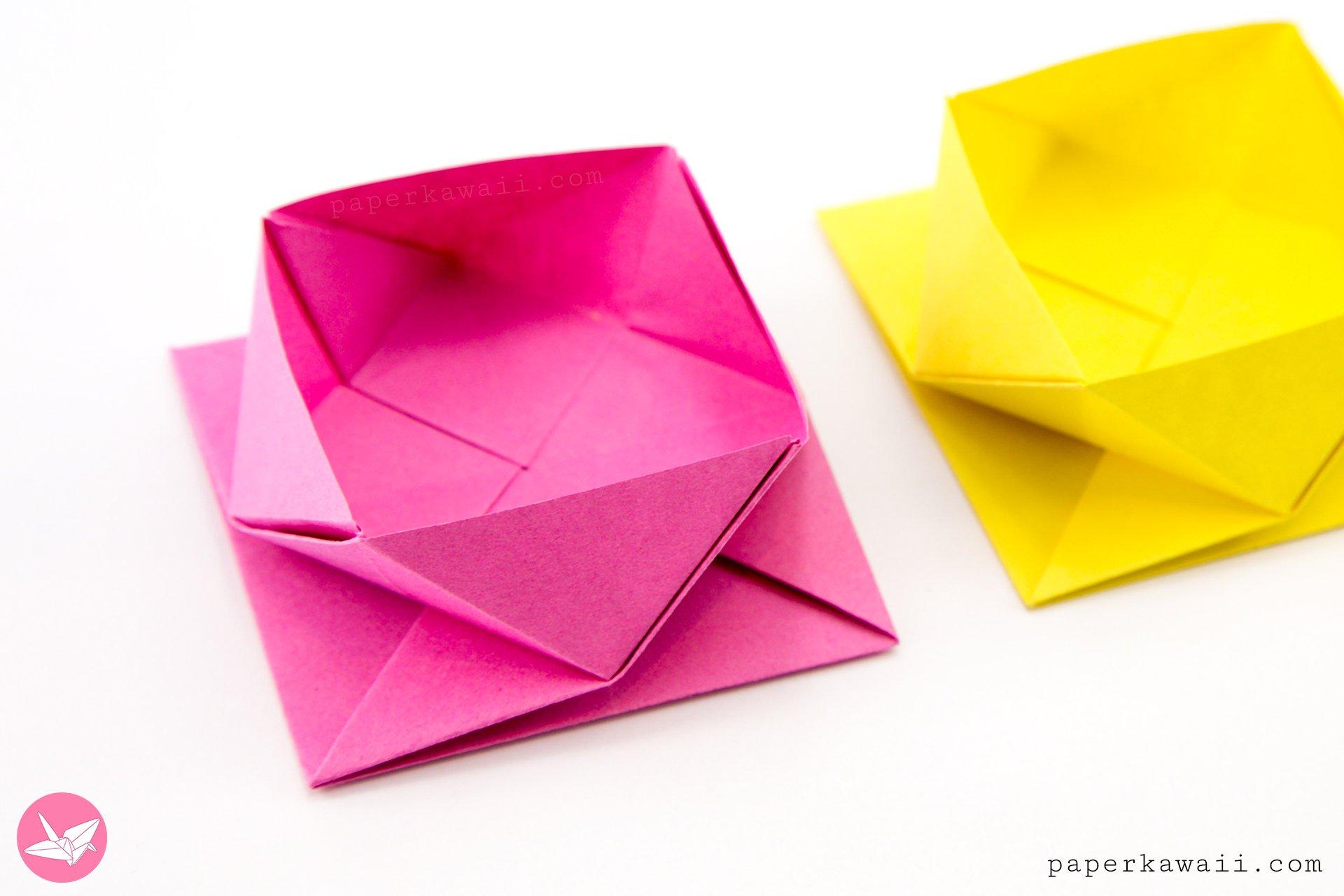Origami Square Twist Box Tutorial via @paper_kawaii