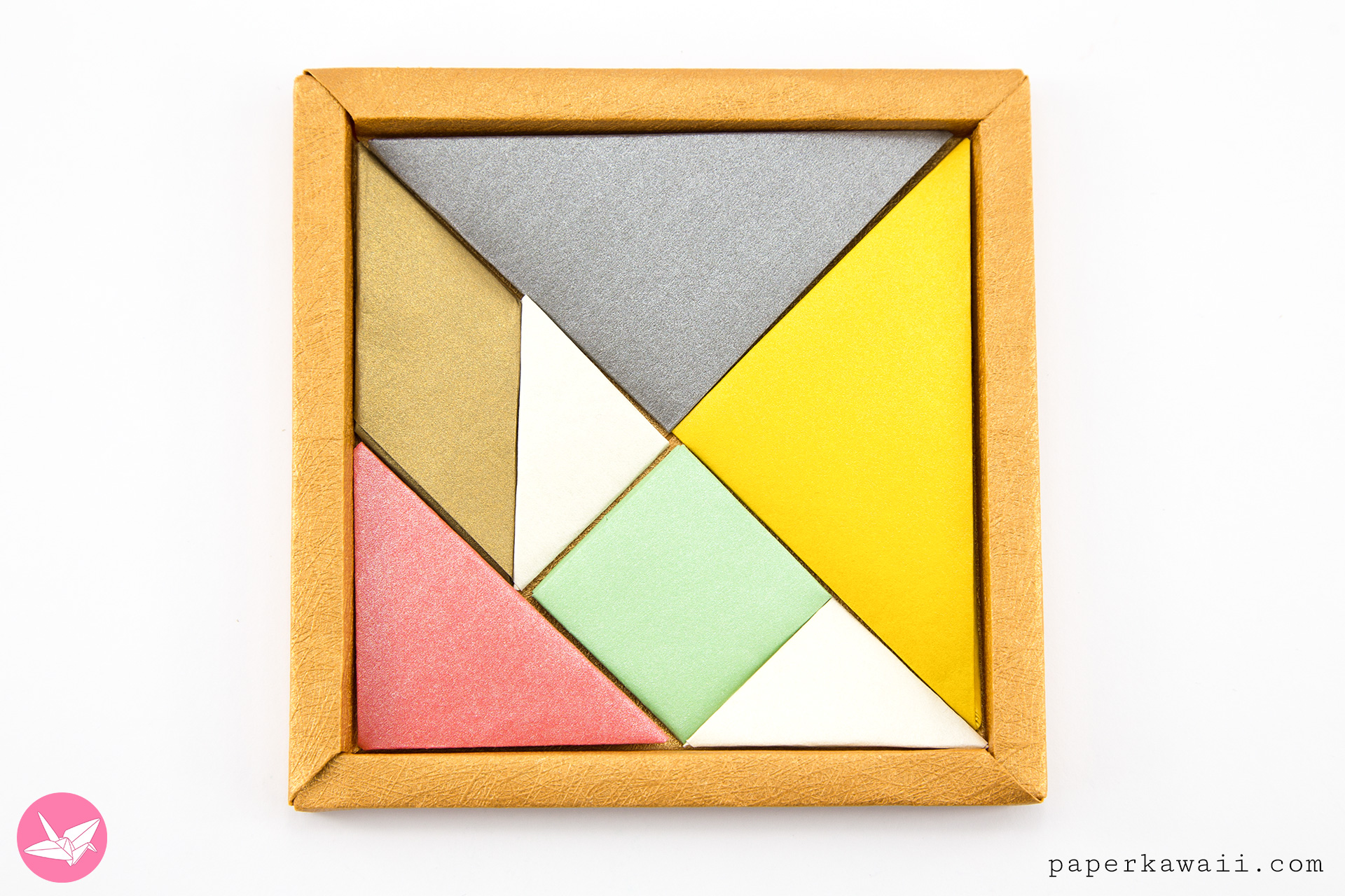 Origami Tangram Puzzle Tutorial - Francis Ow via @paper_kawaii