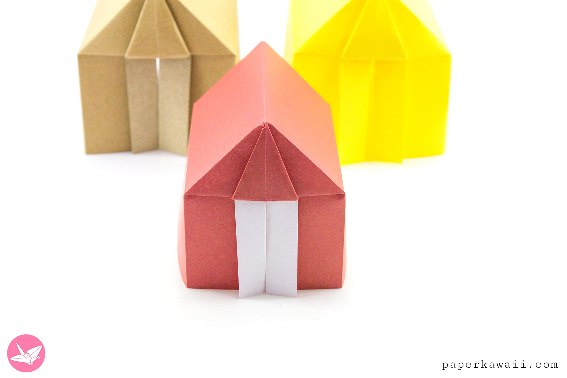 Origami Tent or House Tutorial via @paper_kawaii