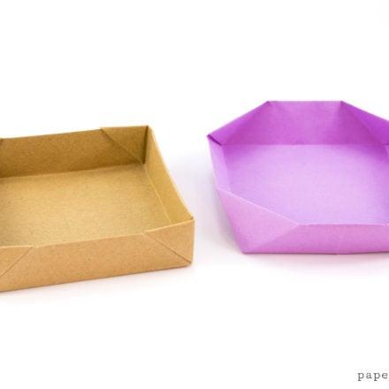 Square & Shallow Origami Masu Box Tutorial via @paper_kawaii