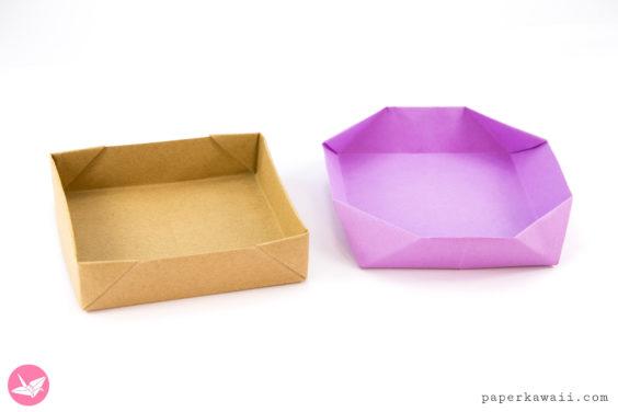 Easy Peasy Shallow Origami Box Tutorial